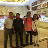 General Manager with visiting customers