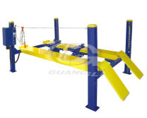 Guangli 4 post car lift for four-wheel alignment