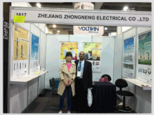 with customer in Expo electrica Internacional 2015