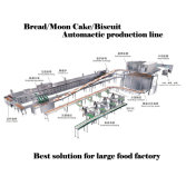 bread moon cake biscuit automatic production line for food factory