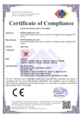 CE certificate for sign light