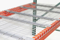 Enjoy convenient storage with wire mesh decking panels