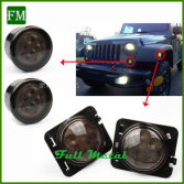 jeep wrangler fender falre/Grille fog turn light