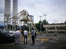 Two Sets of HZS75 Concrete Mixing Plant installed in Philippines
