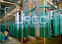 Automated powder coating line
