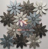 Blue,sliver and black color mix flower aluminum mosaic(CFA146)