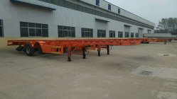 4axle 40feet skeletal trailer exported to Africa