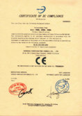 certificate of EC compliance
