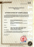 CE certificate of shrink packing