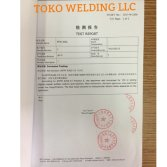TOKO AWS E309L TEST REPORTS by Shanghai Research Institute of Materials