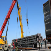 Steel structure building loading and delivery