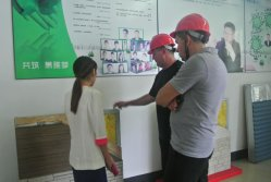 customers study the material of insulation board