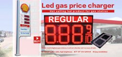 Hot product led gas price sign