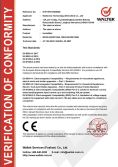CE Certificate for Humidifier - EMC