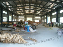 WOODED BEAD SEAT CUSHION PRODUCTION