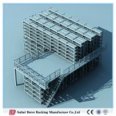China Metal Steel High Density Platform and Mezzanine Heavy Duty Metal Systems