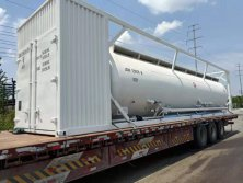 40ft Powder Tank container with air compressor and Diesel Engine Exported to Oceania 2019. 07.