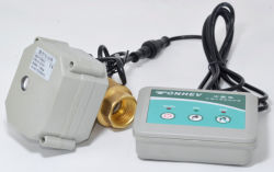 Tonhe water leaking detection detection controller with mini motorized ball valve