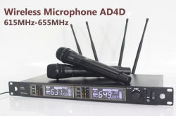 New: Wireless Microphone Ad4d with 2 Handheld Microphone