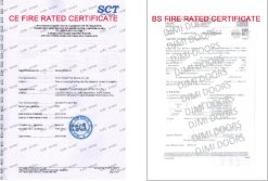 BS and CE Fire Rated Certificate
