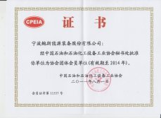 Certificate awarded by CPEIA