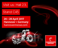 Come to the Hannover Messe Industrial Exhibition in April 2017