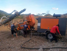 HF415 Blast Hole Drilling Rig In Working Site.