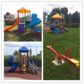 Real Plastic Used Outdoor Playground Equipment for Sale
