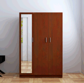Modern Design Customized Wooden Wardrobe with mirror