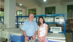 Customers visit our factory in 2014