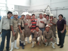 King Machine Engineer and customer in Peru