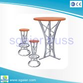 Modern Night Bar Truss Furniture Cocktail Bar Table with Bar Stool