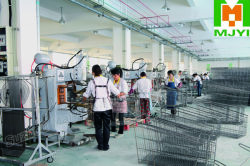 shopping trolley welding line
