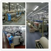 air jet loom customer′s factory show