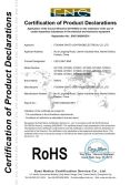 ROHS certificate of led light bar