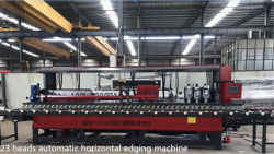 23 heads automatic horizontal edging machine