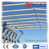 Light prefabricated steel structure warehouse in Europe