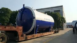 To Portugal: 3650x6000mm Glass Autoclave in 2017