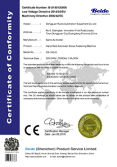 CE certificate of screw fastening machine
