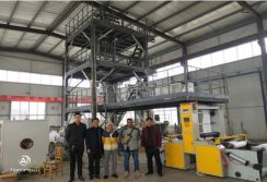 Malaysian Customers Came to Inspect the 3FM800 Film Blown Machine