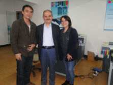 Two Turkey client come to have traning of A2 uv printer