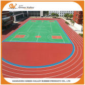 Running track made with EPDM granules