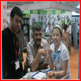 Photo with Guangzhou Fair Customer