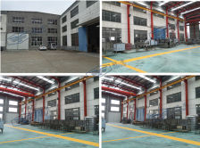 New factory plant as sample room with various machines