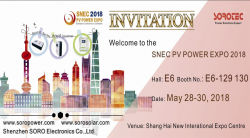 Welcome to visit us at the SNEC PV POWER EXPO 2018