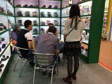 The old client visit our booth in 115 Canton Fair