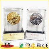 Custom Metal Crystal Awards Medal Decoration Trophy