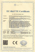 EC-R&TTE Certificate for Touch Kiosk