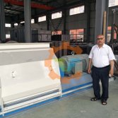 U.S. client visit our factory for hammer mill