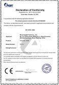 CE certificate for the fuel/oil tank